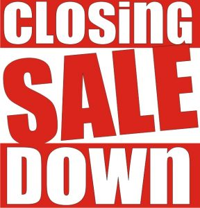 closing sale red box